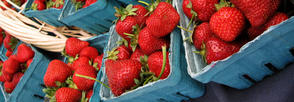Fresh strawberries at Eugene's Farmer's Market